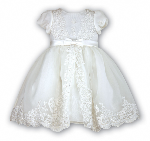 Sarah Louise Ivory Embelished Occasional Dress